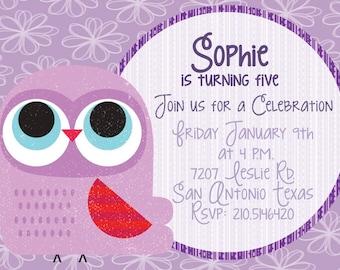Owl Digital Invitation