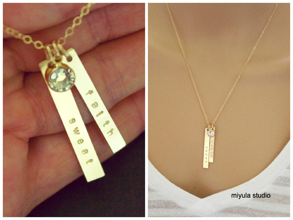 Gold Vertical Bar Necklace Two Personalized Bar 14k Gold. Journey Pendant. Wear Watches. Dove Pendant. Vintage Watches. Rose Gold Diamond Anniversary Band. Engagement Wedding Rings. Orange Bands. Rose Gold Pendant