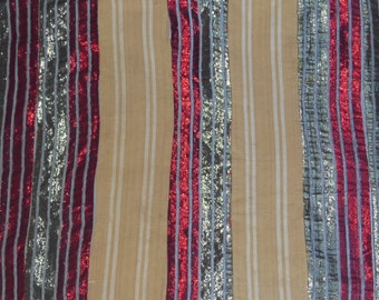 African Aso Oke Weaving, Textile, Fabric Used On Special Occasions Yoruba People Nigeria *3