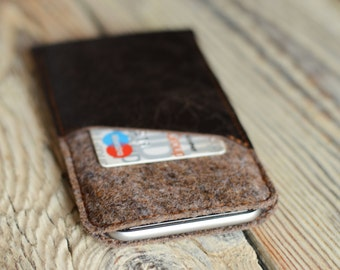 iPhone 6 sleeve Leather iPhone 6 case Card pocket iPhone case