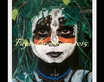 SMALL Omo Girl - Indigenous People from Around The World - Unframed SMALL Limited Edition fine art giclee print