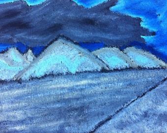 Icelandic Mountain Original Pastel