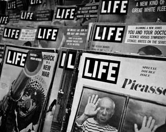 Life magazine, Black and White, Picasso, War, Fine Art