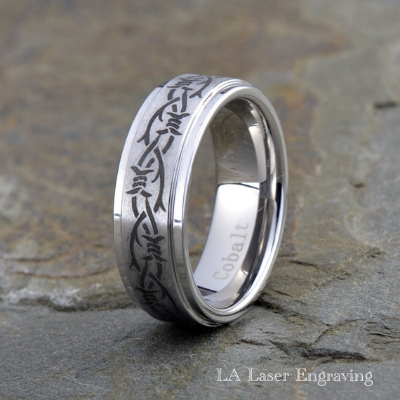 Cobalt Wedding Band Mens Wedding Band Mens Ring Custom