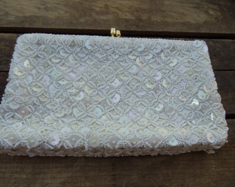 Vintage Beaded and Sequined Cavanagh's Evening Bag