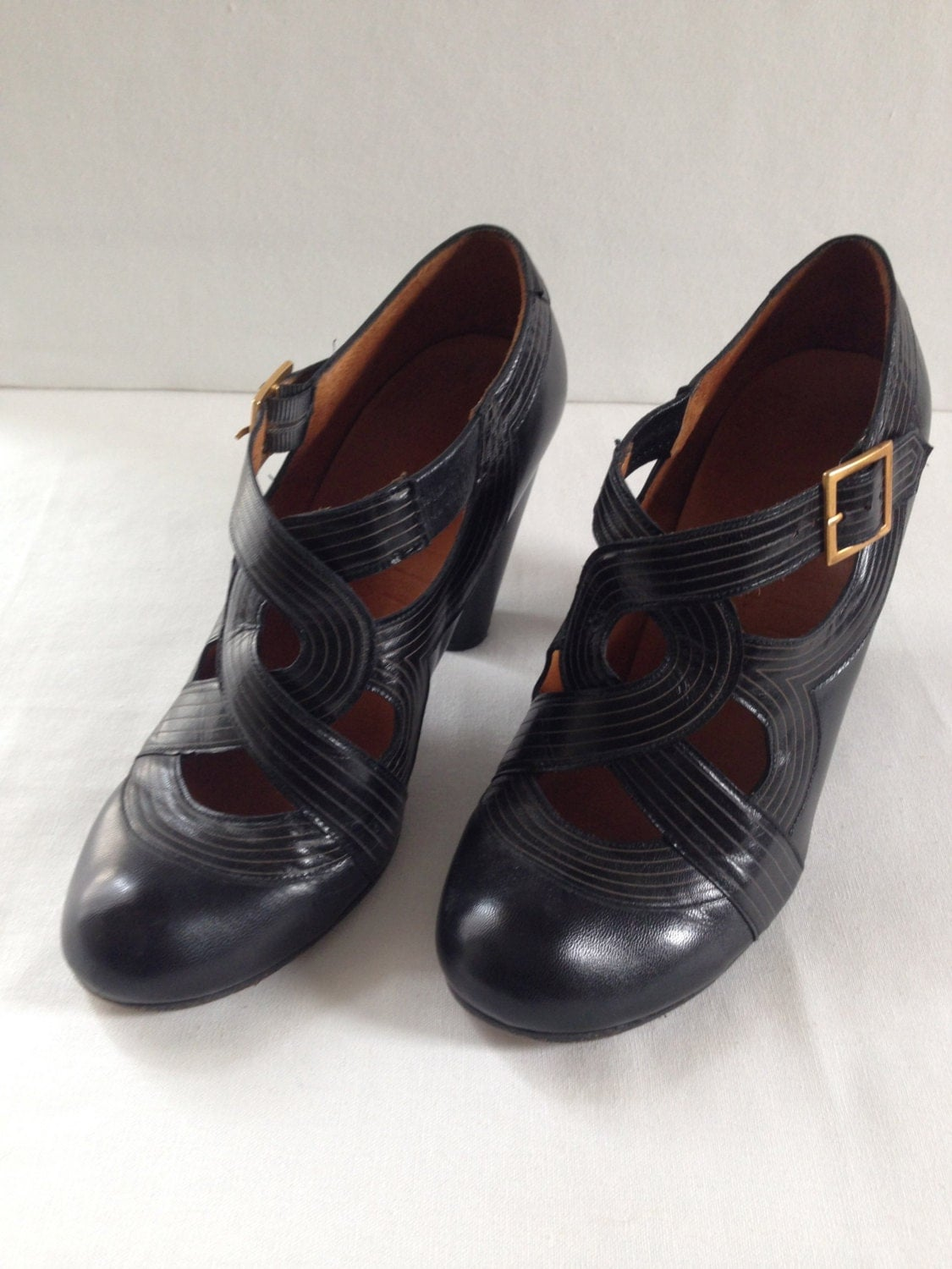 sale chie mihara black mary jane shoes size 38 and 3 5. Black Bedroom Furniture Sets. Home Design Ideas