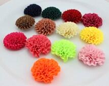 20pcs headband DIY puff flowers various color Carnation cabbage Ribbon puff flowers, satin flower, wedding supplies FZ0158