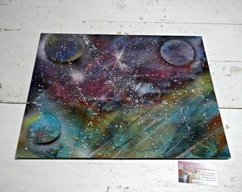 Galaxy Series #1 Spray Paint Art by Jerrica Delaine