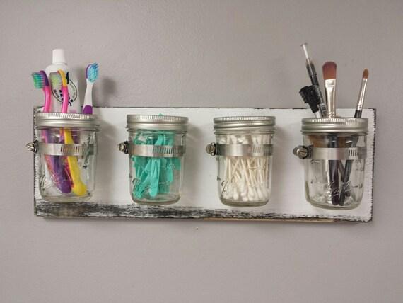 mason jar bathroom organizer mason jar organizer mason jar storage