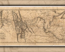 42x63 Poster; Map Of Lewis And Clark'S Expedition Pub 1814