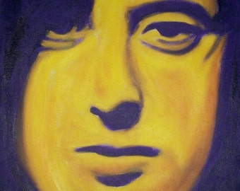 Jimmy Page of Led Zeppelin print from my original oil painting