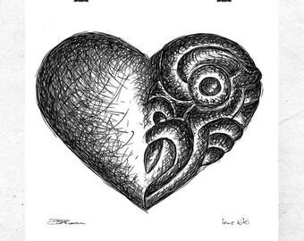 Love Tiki, fine art print.