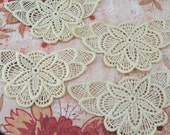 Four Lacy Butterfly Medallions for Crafts, Scrapbooks, ATCs, Journals, Altered Art, Mixed Media and more  #104