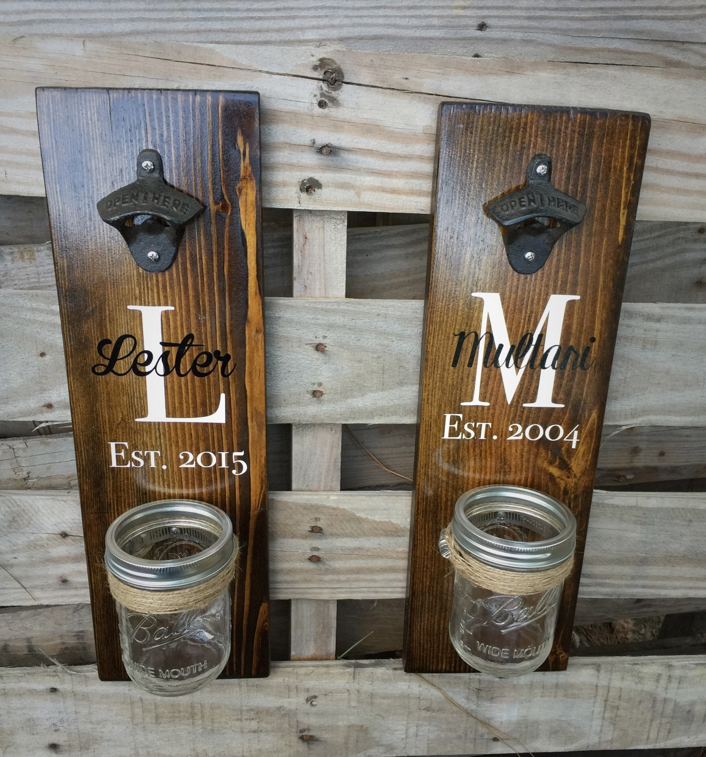 Wooden Bottle Opener Rustic Beer Bottle Opener Wall