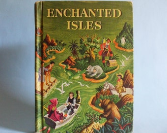 Enchanted Isles 1954 Childern's Literature/Story Book Vintage