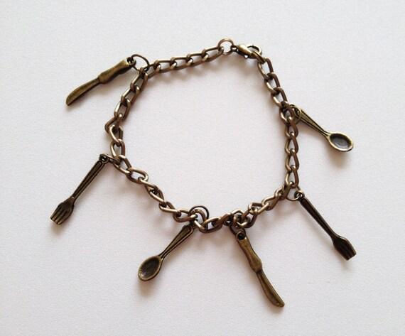 cook bracelet theme chef pendant charm bracelet 3d by zahuczki