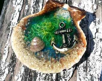 Love at First Sea - Art Wearable 16 inch Handmade Necklace