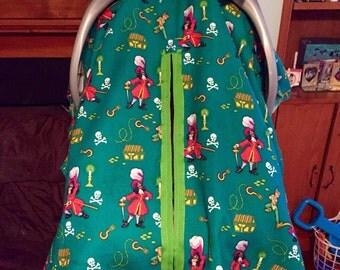 Handmade Heavyweight  Peter Pan/Hook Baby Car Seat Cover!!