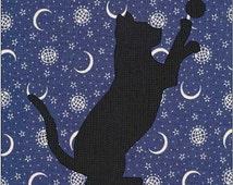 Cat Silhouette Pattern - Cat Quilt Block - Quilt Appliqué - Instant Download - Block Pattern - Quilt Pattern - Quilt Block - Block Pattern