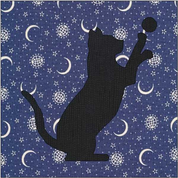 Cat Silhouette Pattern Cat Quilt Block Quilt Appliqu 233