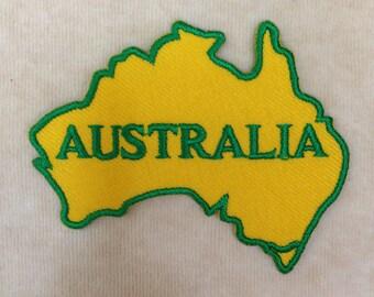 Australia Iron On Embroidery Patch