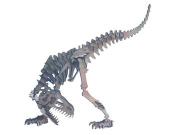 3D Dinosaur Puzzle Allosaurus, wooden, Jurassic inspired