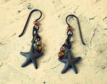Starfish Earrings, Starfish Earings, Starfish Jewelry, Starfish Jewlery, Beach Earrings, Beach Jewelry, Gifts Under 20, Salvina's Treasures