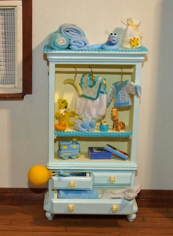 Dollhouse Miniature Nursery Furniture Ooak For Boy Toys Baby