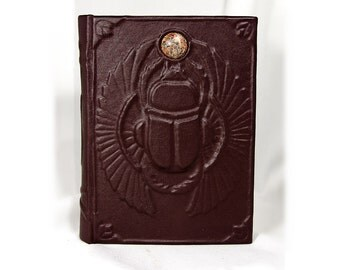 Leather-bound blank journal Scarab