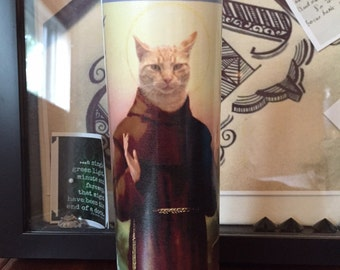Cat Prayer Candle