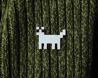 Solid color Pixelpet standing cat brooch