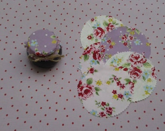 Jam Jar covers, wedding favour covers