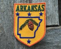 Arkansas Vintage Souvenir Travel Patch from Voyager