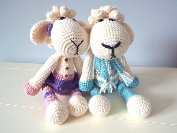 Amigurumi Sheep Doll : Crochet lamb sheep Amigurumi Stuffed animal Home decor Kids