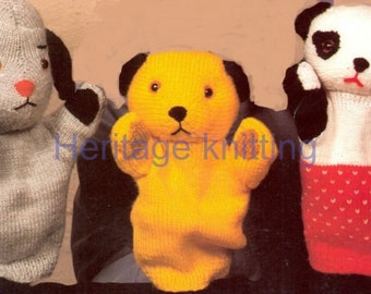 sooty soo and sweep puppets dk knitting pattern 99p pdf
