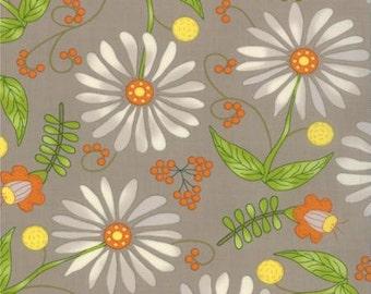 MODA - Bobbins Bits Nickel - Pat Sloan - 43020 17 - Novelty - Grey - Orange - Floral - Green -  White