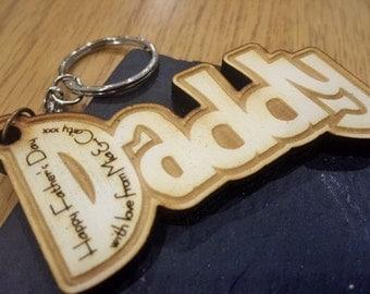 Personalised Wooden Key-rings