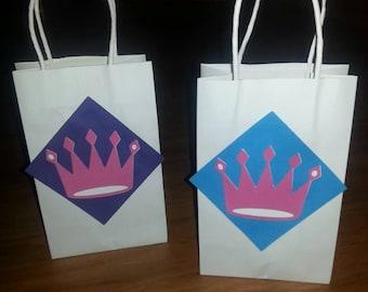 10 Princess Crowns Favor Bags