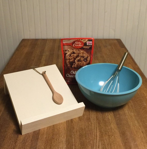 Handmade modern recipe book holder stand by theenglishcraftsman - Cream recipe book stand ...