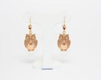 Vintage owls earrings demirouge Ligue