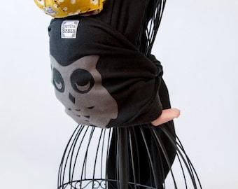 Hemp/ Recycled Fleece Baby Wrap Carrier - Sleeping Owl