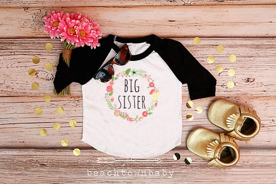Big Sister Shirt Baby Announcement Shirt Sibling Shirt Family Pictures New Baby Announcement Shirt Big Sister Announcement Shirt