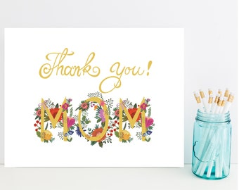 Mom Thank You Card - Fast Thank You Card