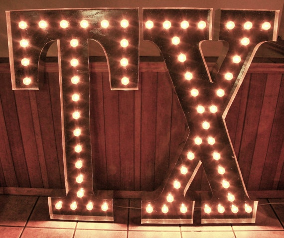 Wall Letters Light Up : Items similar to LARGE 48