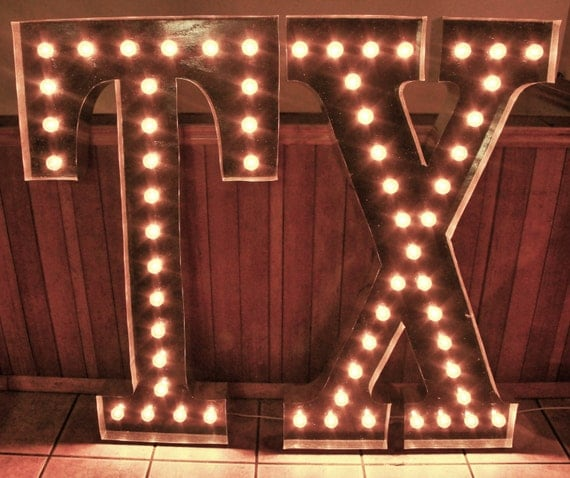 Wall Decor Light Up Letters : Items similar to LARGE 48
