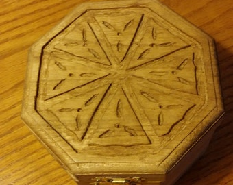 Wood Carving Jewelry Box