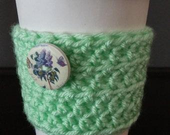 Crocheted cup sleeve