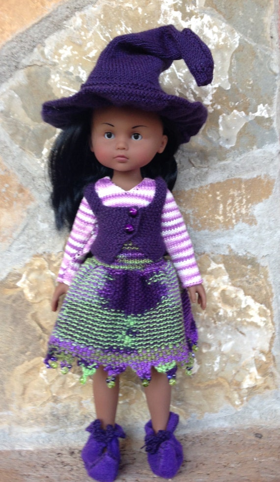 Knitting Patterns For 13 Inch Dolls : Knitting pattern pdf file for 13 inch doll Witch Halloween ...
