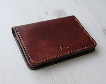 Personalised Leather Card Holder, Leather Card Wallet, Minimalist Card Holder, Gifts For Him, Business Card Holder, Anniversary Gift
