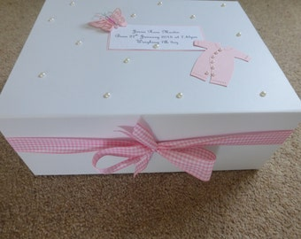 New Baby Personalised Keepsake/Memory Box